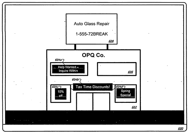 Google Patent on Claiming Real Esteate in 3D mapping environments